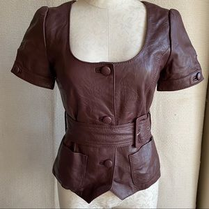 Arden B S Real Leather Steampunk Sexy Jacket Top